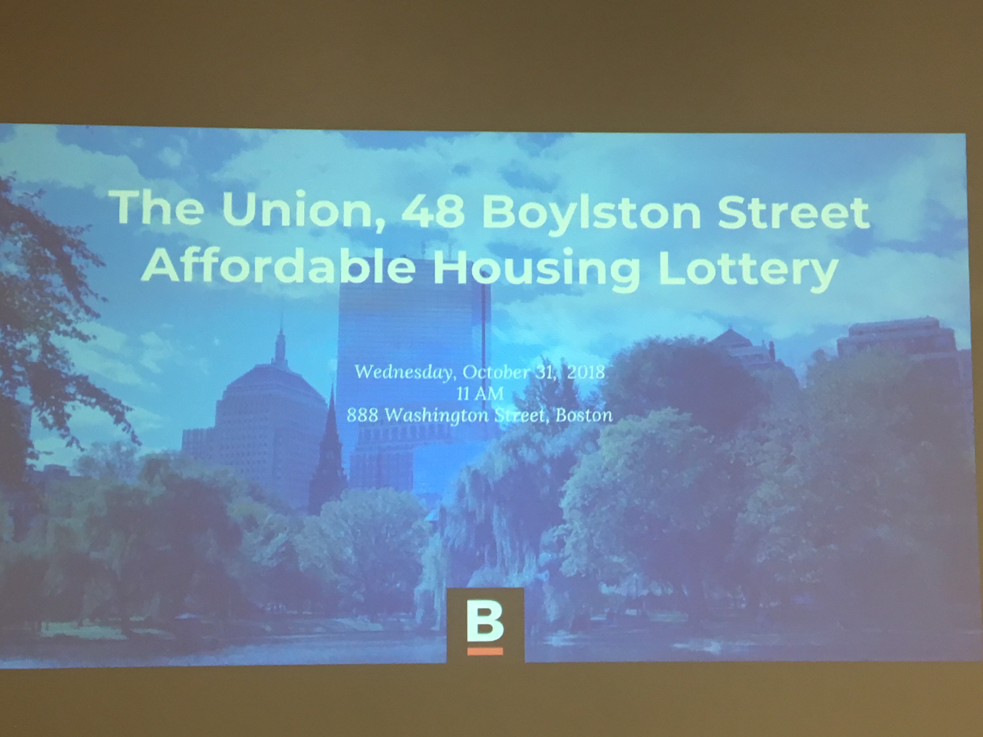 Lottery Held for The Union at 48 Boylston