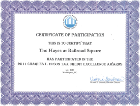 Charles L. Edson Tax Credit Excellence 2011
