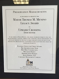 Preservation Mass. Mayor Menino Legacy Award 2017